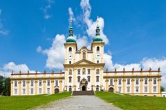 Holly Hill, The Church of the Visitation of the Virgin Mary, town Olomouc, Czech republic. In 1995 visited by the Pope Jan Paul II. CZECH REPUBLIC, SVATY KOPECEK Royalty Free Stock Photos