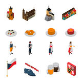 Czech Republic Symbols Isometric Icons Collection Stock Photography