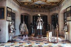 Czech Republic- Telc`castle armory stock images