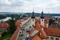 Czech republic, telc, town square Stock Photography