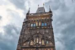 Czech Republic. Tower of Charles Bridge in Prague. June 13, 2016. Czech Republic. Prague. Tower of Charles Bridge in Prague. June 13, 2016 Royalty Free Stock Images