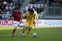 Czech Republic - Ukraine (UEFA Under21) Royalty Free Stock Photography