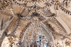 Czech Republic - UNESCO City Kutna. Hora - Church Sedlec - Ossuary royalty free stock photos