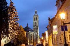 Czech Republic - UNESCO City Kutna Hora - Church St Jakuba (James, Jacob) Stock Photography