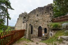 Ruin of the Valdstejn gothic castle Royalty Free Stock Images