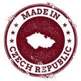 Czech Republic vector seal. Vintage country map stamp. Grunge rubber stamp with Made in Czech Republic text and map, vector illustration Royalty Free Stock Images