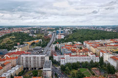 Czech Republic. The view from the height on the houses in Prague. Stock Photography
