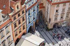 Czech Republic. View of Prague from a height of Astronomical Clock. Czech Republic. Prague. View of Prague from a height of Astronomical Clock stock photography