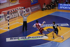 Czech Republic vs. Latvia in Handball Royalty Free Stock Photos