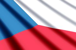 Czech Republic. Waving and closeup flag illustration. Perfect for background or texture purposes vector illustration