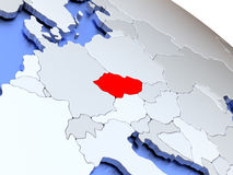 Czech republic on world map Royalty Free Stock Photography