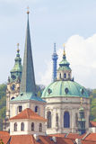 Czech Repunlic, Prague - Spires of Lesser Quarter and St. Nichol Royalty Free Stock Image