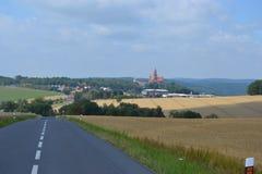 Czech, Romanesque architecture, tourism, castle Bouzov, Olomouc, beautiful view, antiquary, noble family, stock image