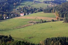 Czech rural scenery Stock Images