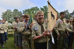 Czech scouts during finaly round of Svojsik race Stock Photo
