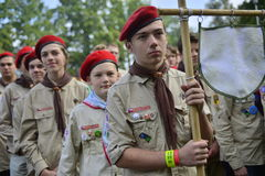 Czech scouts during finaly round of Svojsik race Stock Photo