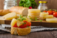 Czech smelly cheese - Olomoucke tvaruzky Royalty Free Stock Photo