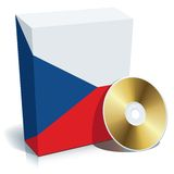 Czech software box and CD Royalty Free Stock Images