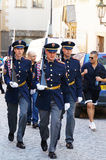 Czech soldiers. Picture of marching Czech soldiers Royalty Free Stock Image