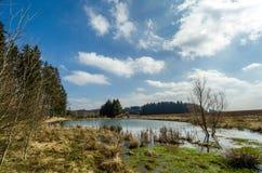 Czech spring landscape royalty free stock photo