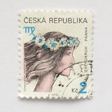 Czech stamps Royalty Free Stock Photos