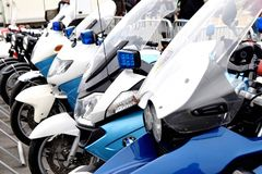 Czech State Police quick motorbike royalty free stock photography