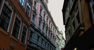 Czech street. Dark Alley tight Stock Photography