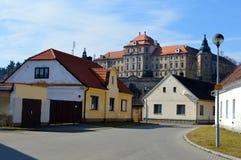 Czech street Stock Photo