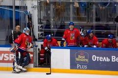 Czech team bench Stock Photos