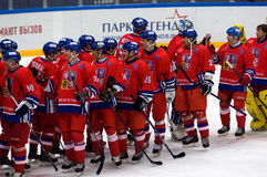 Czech team rejoice Royalty Free Stock Image