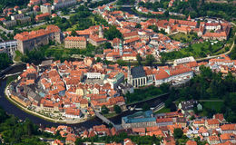 Czech Town with Red roofs Royalty Free Stock Photo