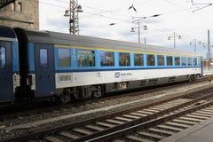 Czech train in Dresden stock photo