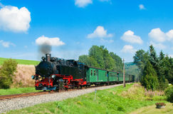 The czech train is nice. The czech steam train is very history Stock Photos
