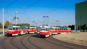 The czech tram in Prague. Royalty Free Stock Image
