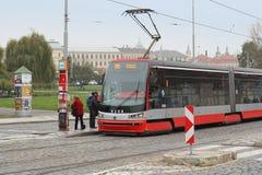 Czech tram Royalty Free Stock Image