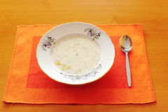 Czech white milk soup Royalty Free Stock Photo