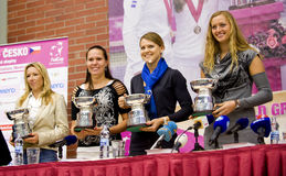 Czech women Fed Cup Team Royalty Free Stock Image