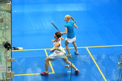 Czech women squash Stock Images