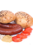 Czech wursts Royalty Free Stock Image