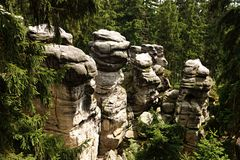 Czecha rockowy miasteczko Obraz Stock