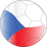 Czechia da esfera do vetor do futebol Fotos de Stock Royalty Free