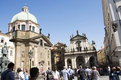 Czechia people and foreigner travelers go to visit Church St Saviour or Salvator Royalty Free Stock Photography