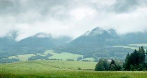 Czechiabergen na een regen Stock Foto's