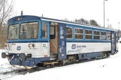 Czechoslovak diesel- åtskillig enhetsserie 810 Arkivfoton