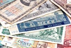 Czechoslovak gammala pengar (tjecken). Royaltyfri Fotografi