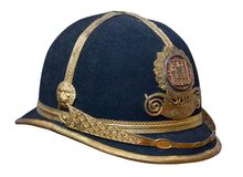 Czechoslovak Police officer helmet Stock Photo