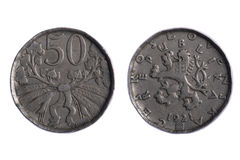 Czechoslovakia coins Royalty Free Stock Images