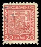 Czechoslovakia Heraldic animals Royalty Free Stock Photo