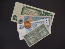 Czechoslovakia money Stock Image