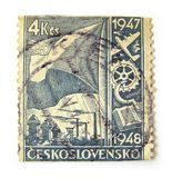 Czechoslovakia Postage Stamp Stock Images